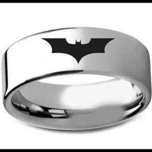Men's Titanium Batman Ring! New size 8